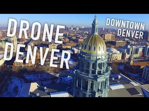 Drone Denver - Downtown Denver Colorado