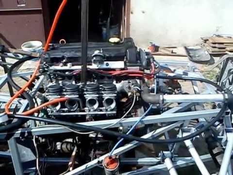 LOTUS SEVEN 2.0 DOHC FIRST START ENGINE WITH YAMAHA FAZER CARBURETORS - YouTube