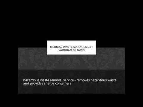 Gic Medical Waste Management Vaughan Ontario