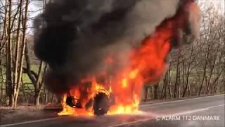 14.02.2018 Voldsom brand i traktor, Hillerød