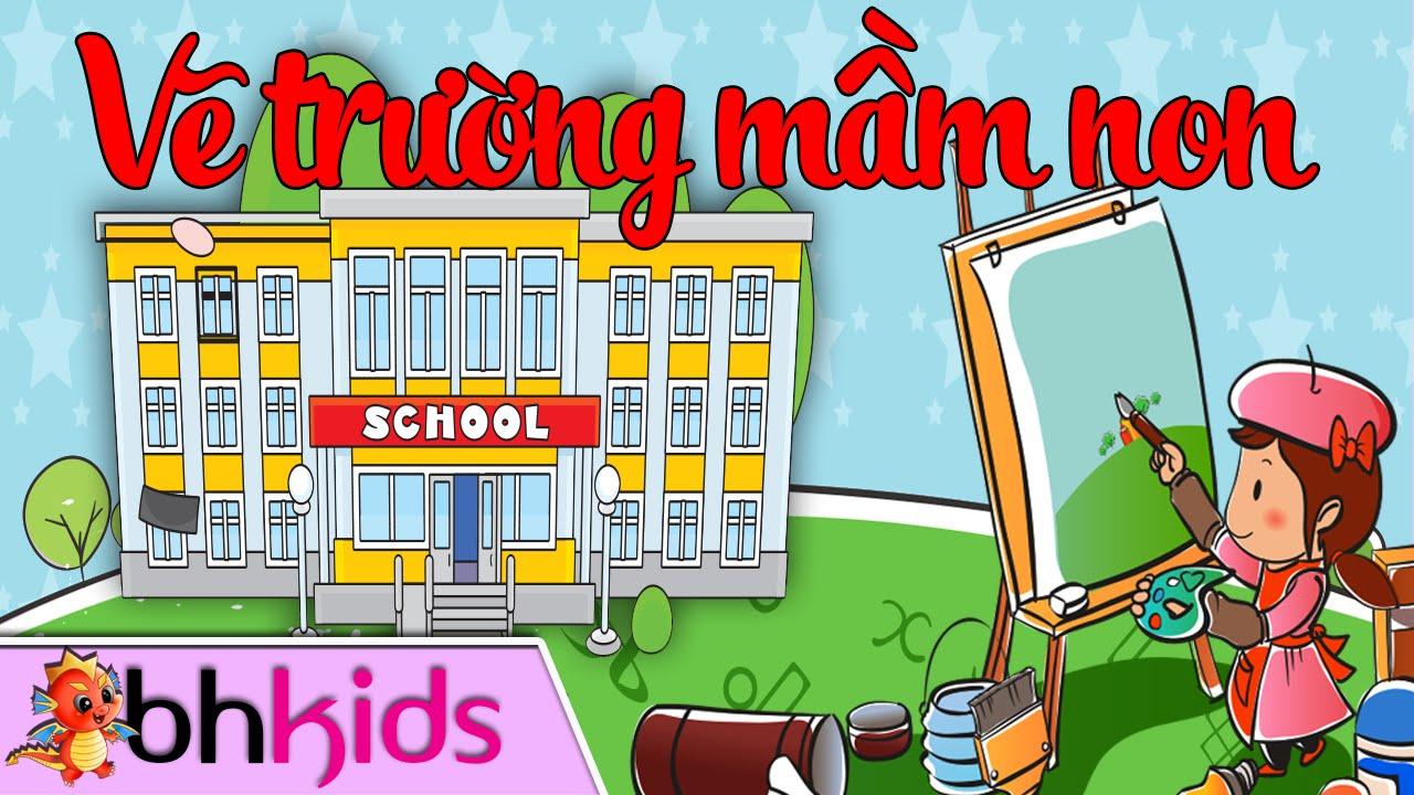 Hướng Dẫn Vẽ Trường Mầm Non – Dạy Bé Vẽ Cơ Bản