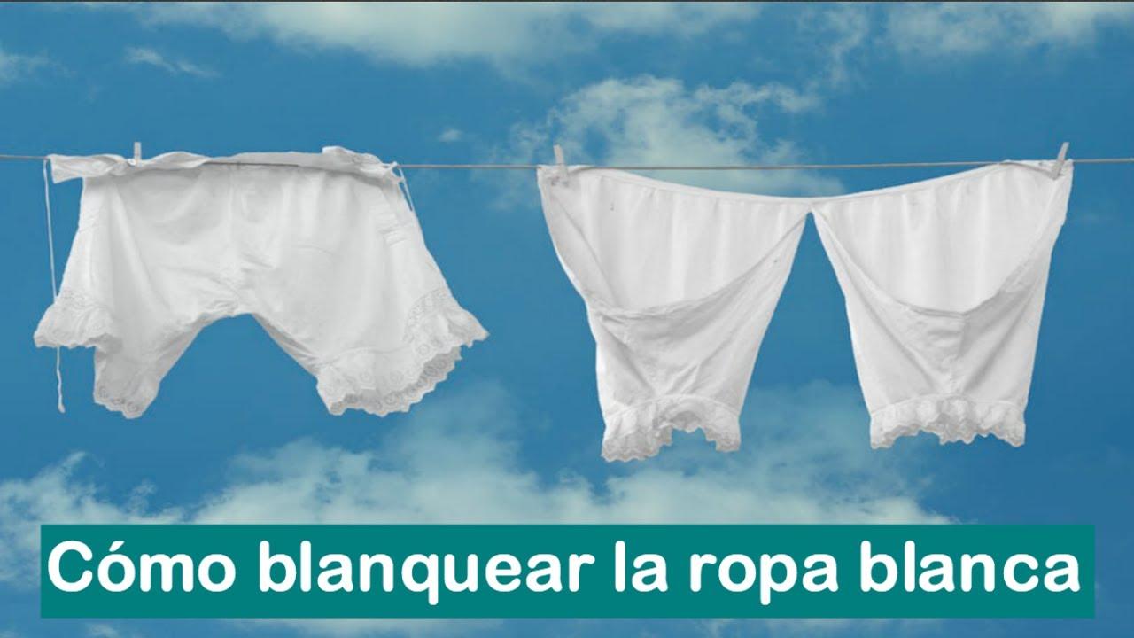 comprar nuevo 100% de alta calidad calidad real Cómo BLANQUEAR la ropa blanca