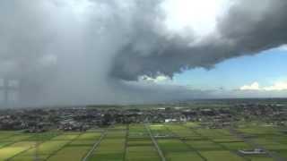 埼玉県越谷市 竜巻 スーパーセル全景 20130902