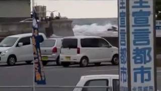 Japan Dramatic Escape From Tsunami for Husband and Wife