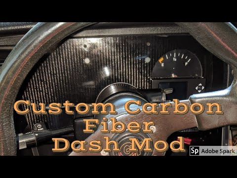 82-92 Camaro Custom Carbon Fiber Dash And Gauges