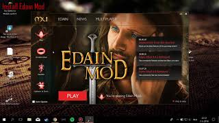 How to install Edain Mod 4.4.1 and Game crash fixes - Windows 10