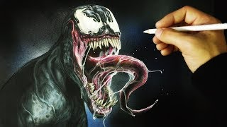 Cómo Dibujar a Venom Realista | How to draw Realistic Venom | ArteMaster