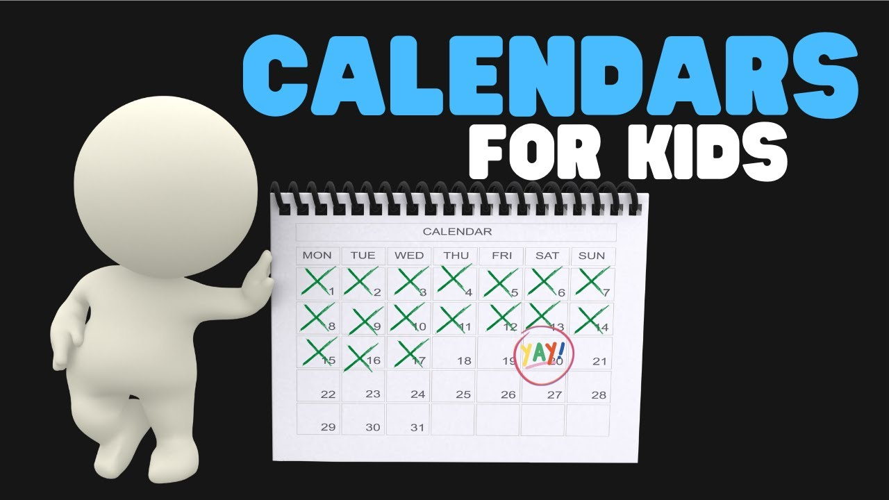 Calendars for Kids - Months and Days - YouTube