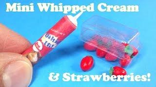 DIY Miniature Pack of Strawberries & Whipped Cream