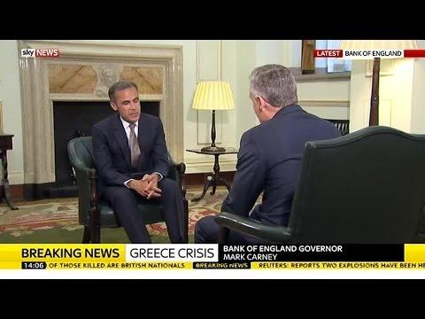 Bank Of England Governor Mark Carney On Greece, Housing & Banks