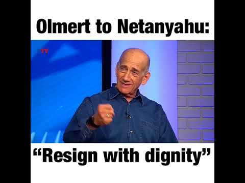 """Olmert To Netanyahu: """"Resign With Dignity"""" - Mar. 22, 2018"""