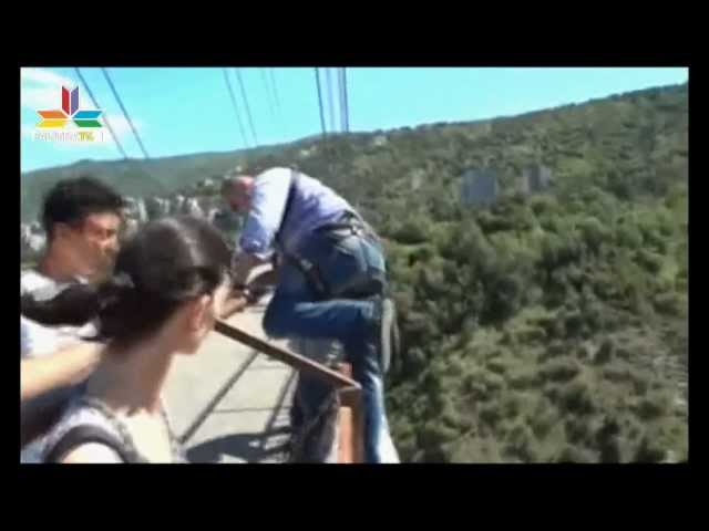 Tragic rope jumping. the Death of the couple