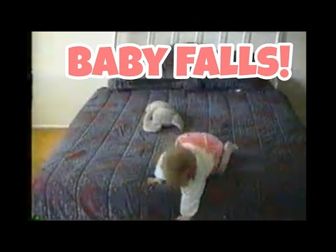Kids React to Old Home Video of Baby Falling Off of Bed.