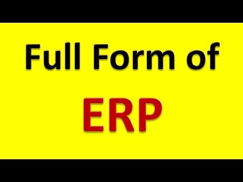 Full Form of ERP