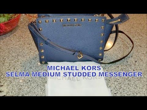 2dcf3ca7fd14 MICHAEL KORS SELMA MEDIUM STUDDED MESSENGER BAG REVIEW