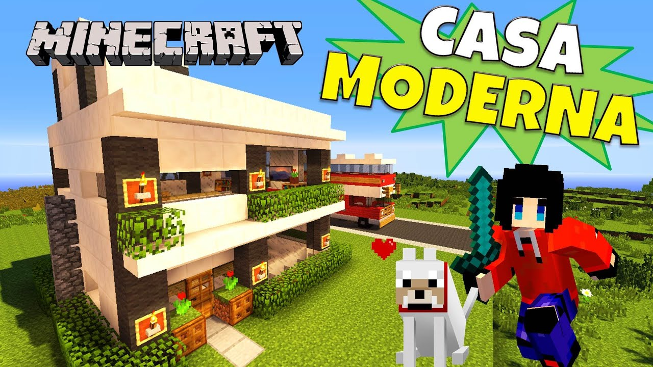 Minecraft casa moderna 10x10 super tutorial youtube for Casa moderna 10x10 minecraft