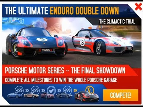 asphalt 8 porsche 918 spyder with weissach package enduro double down challenge 1 4 part 55. Black Bedroom Furniture Sets. Home Design Ideas