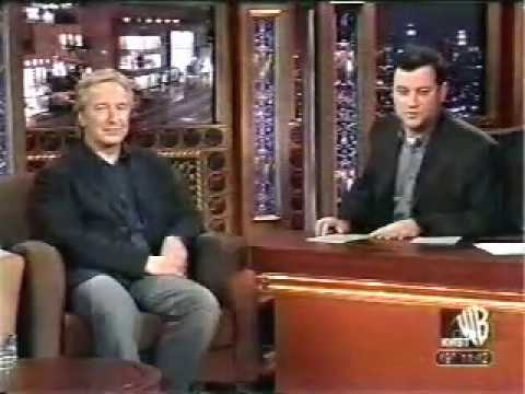 Alan Rickman on Jimmy Kimmel Live 2003