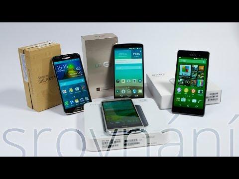Srovnání: HTC One M8, LG G3, Samsung Galaxy S5 a Sony Xperia Z3