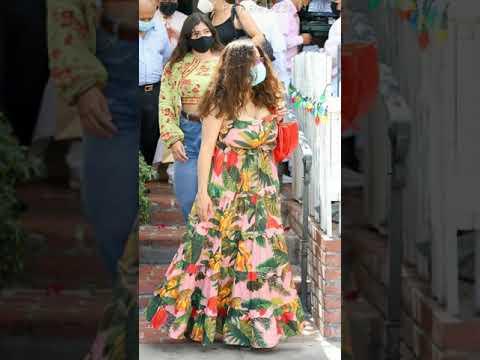 Salma Hayek in a stunning dress went for a walk #Shorts