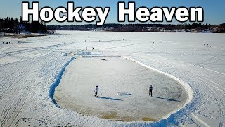 Hockey Heaven. Some of the BEST outdoor rinks in Europe are in Finland