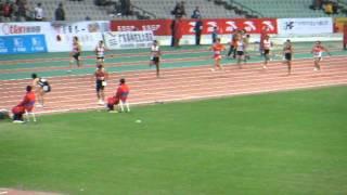 """2009 アジア選手権 男子4x100mリレー 日本(江里口-塚原-高平-藤光) 39""""01"""