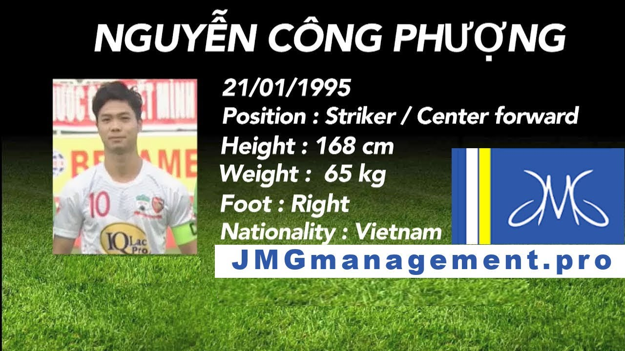 JMG football management soccer player Nguyen Cong Phuong formed by JMG Soccer Academy in Vietnam