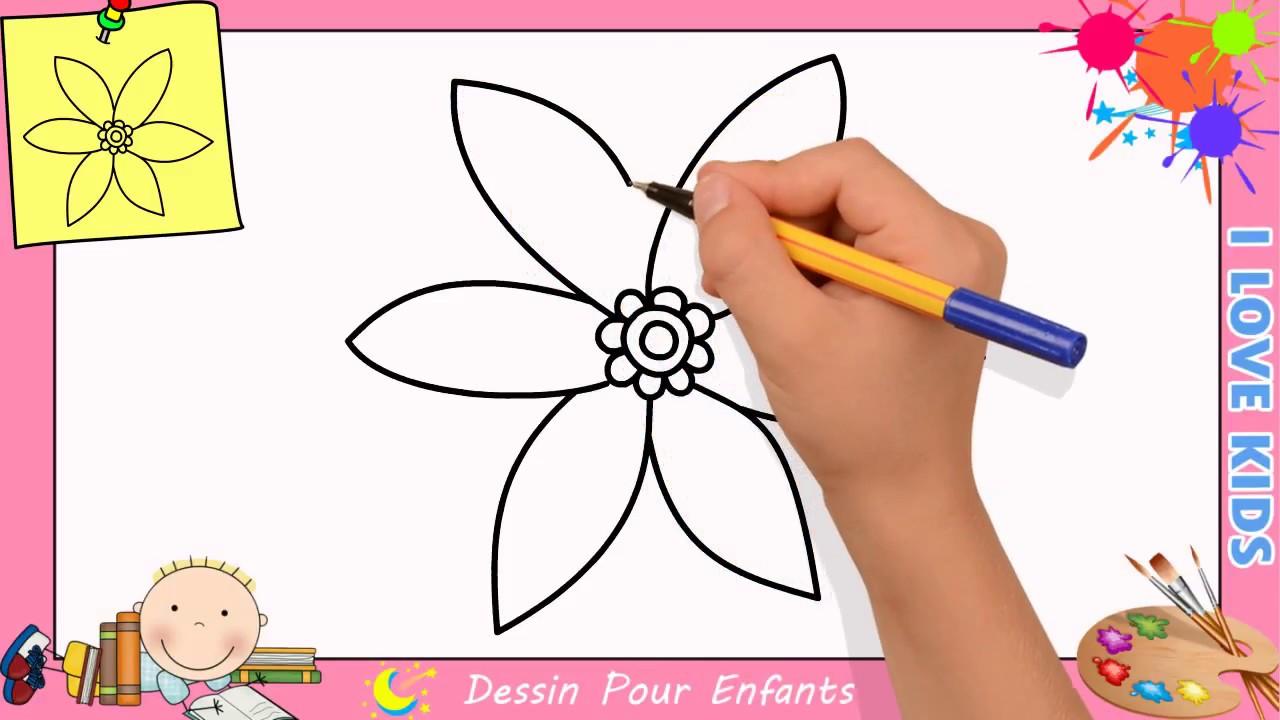 Comment Dessiner Une Fleur Facilement Etape Par Etape Pour Enfants 3