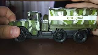 Обзор модельки 1:43 (Урал 4320 военный набор)
