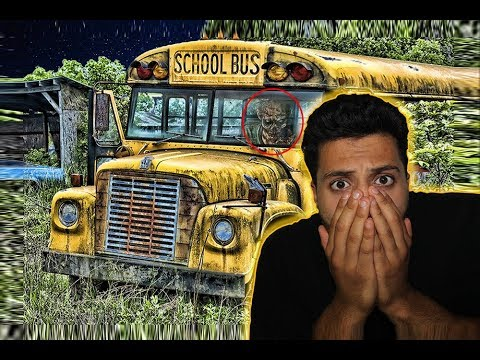(SOMETHING WAS INSIDE! ) DO NOT GO TO HAUNTED SCHOOL BUS AT 3AM |THIS IS WHY| OVERNIGHT MADDNESS