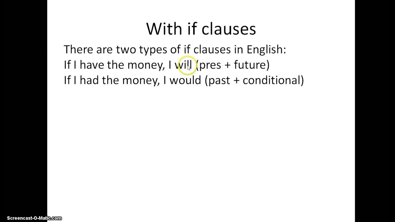 Spanish If Clauses Imperfect Subjunctive Youtube