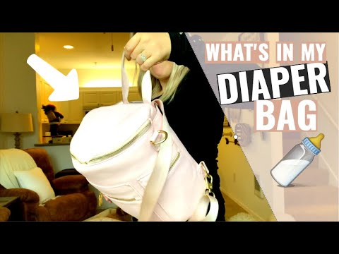 whats-in-my-diaper-bag-|-5-month-old-|-practical-products-|-backpack-diaper-bag-|-mini-backpack