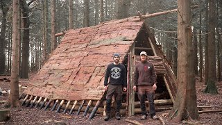 Building a Dark Age Viking House: Bushcraft, Hand Tools, Vikings