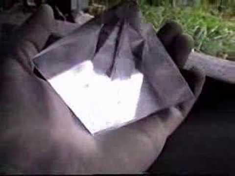 Pyramid alum growing crystal - Cristal d