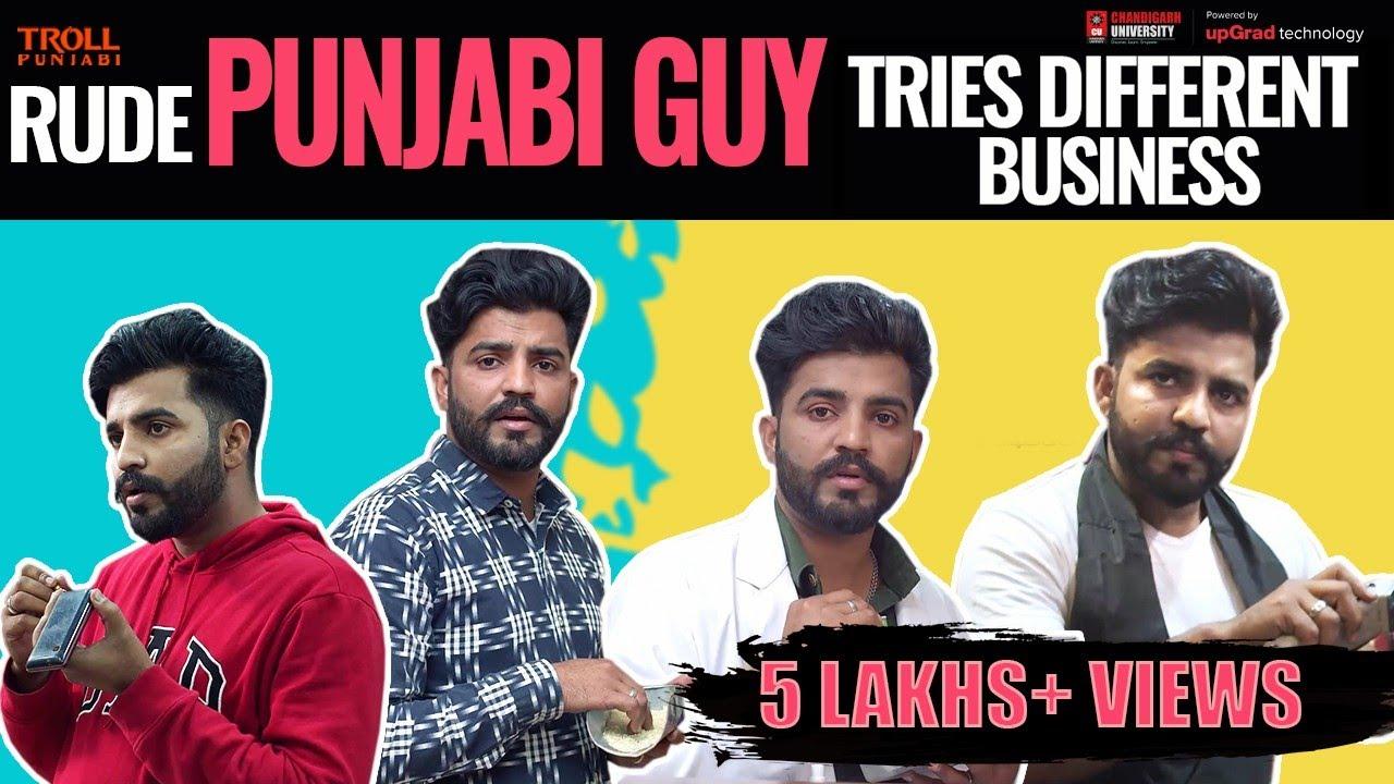 Rude Punjabi Guy Tries Different Business | Khiji Singh | Troll Punjabi