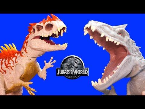 Jurassic World INDOMINUS REX Toy Dinosaurs Hybrid Rampage & Armor I-REX Dinosaur Toys Review