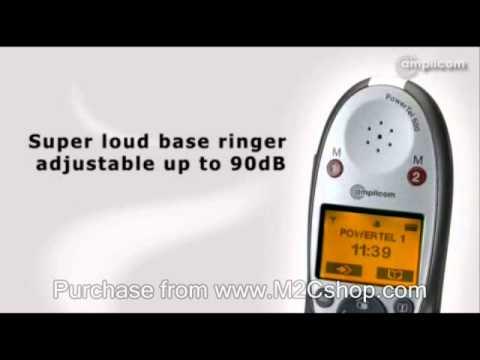Amplicom PowerTel 502 Cordless Amplified Telephone - Twin Set