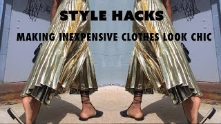 HOW TO MAKE INEXPENSIVE CLOTHES LOOK CHIC | Denim, Skirts, Belts & More