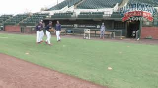 Auburn Baseball Routine Fielding Drill for Infielders!