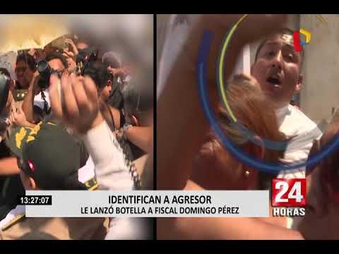 Identifican a agresor que lanzó botella a fiscal José Domingo Pérez