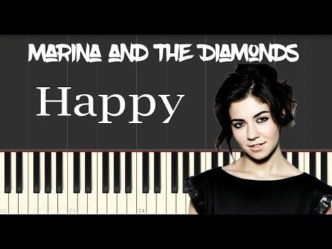 Marina And The Diamonds Happy Piano Tutorial Youtube