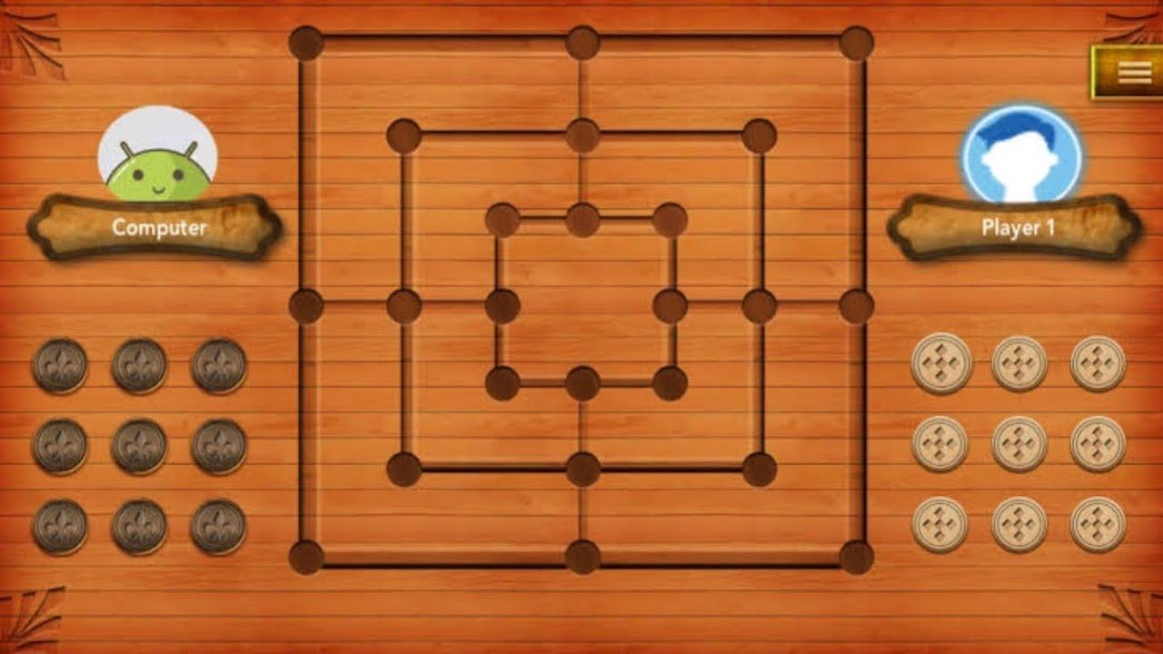 Mills Nine Men S Morris Gameplay Free Online Board Game Ios Android Game 9 Kukri Ninemen Youtube