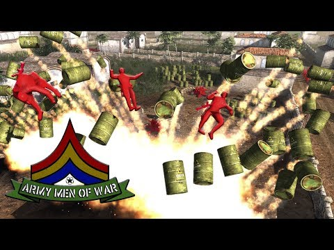JOINT OFFENSIVE ! Fuel Depot Attack and RUN ! RED Army Men (AMOW)