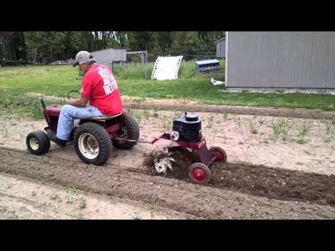 Johnnypop58 tilling with wheelhorse