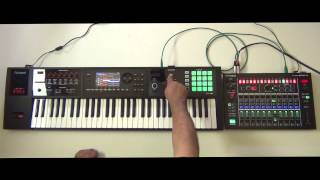 How to sync Roland FA-06/08 to Roland  MX-1