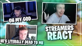 STREAMERS REACT to getting *DESTROYED* by me!