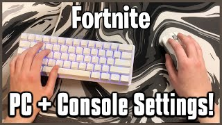 Ultimate Mouse & Keyboard Settings! - Keybinds, Sensitivity + More! (Fortnite PC/Console)
