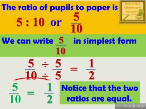 Ratio and Proportion - Interactive Mathematics Lesson Module