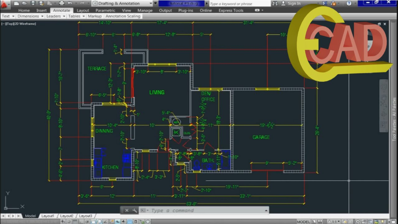 Learning AutoCAD 2013 tutorial 10: Creating and Using Blocks ...