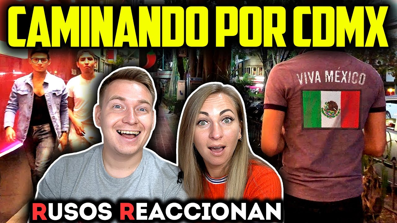 🇲🇽CAMINANDO por las CALLES en la CDMX 3 - ZONA ROSA | 🇷🇺RUSOS REACCIONAN a MÉXICO CITY TOUR
